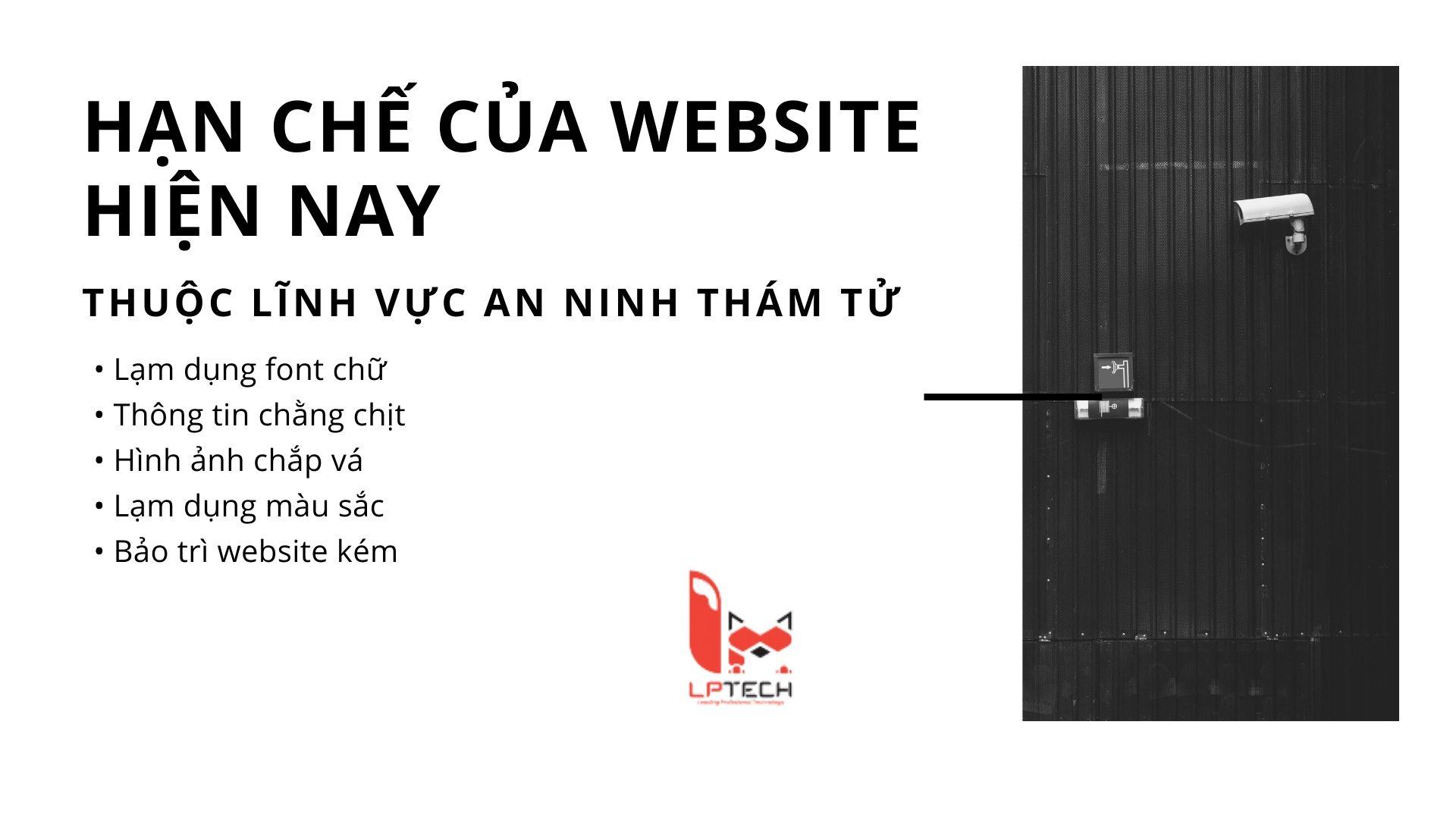 Hạn chế của những website dịch vụ bảo vệ thám tử hiện nay và giải pháp của LP Tech Asia