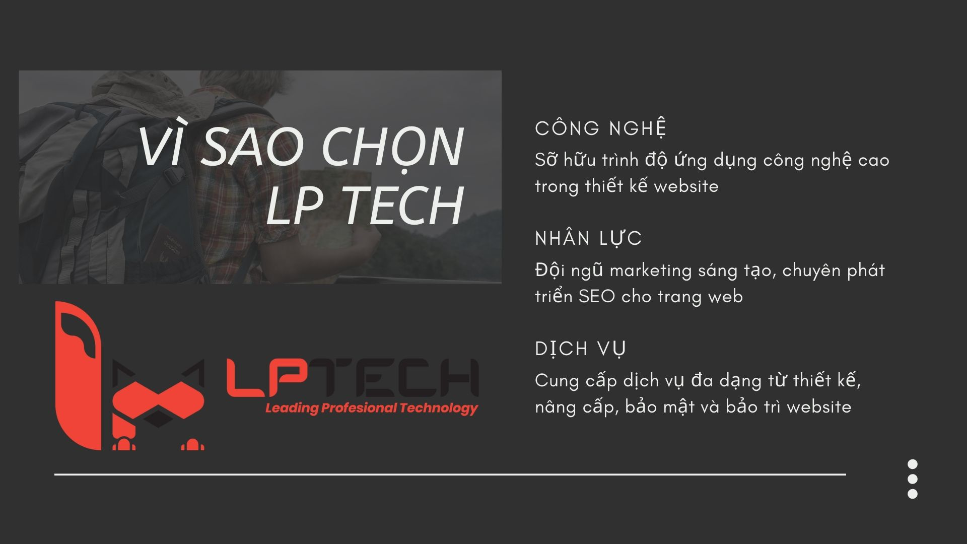 LP Tech là nhà cung cấp dịch vụ thiết kế website chuyên nghiệp từ a đến z cho doanh nghiệp Việt Nam