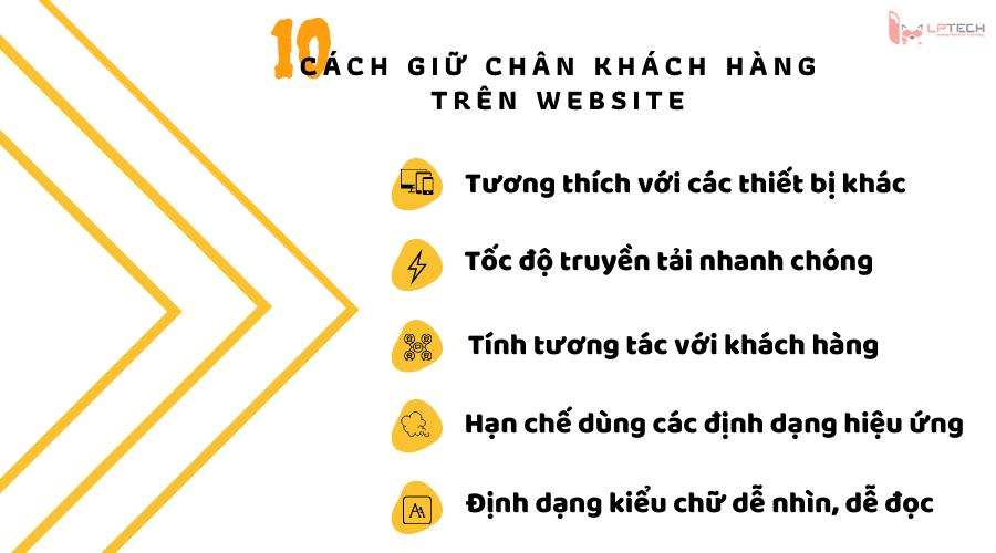 Giữ chân khách hàng ở lại website như thế nào?