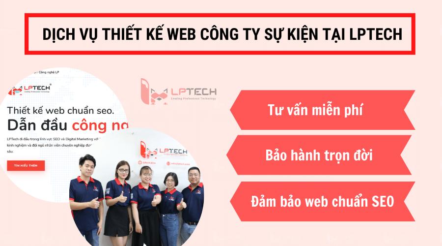 Dịch vụ thiết kế web công ty tổ chức sự kiện tại LPTech