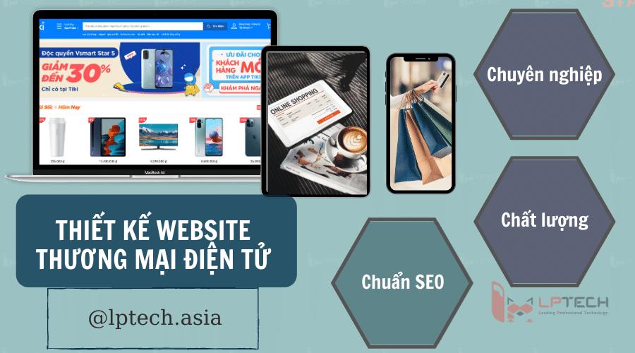 Dịch vụ thiết kế website thương mại điện tử chuyên nghiệp tại LPTech