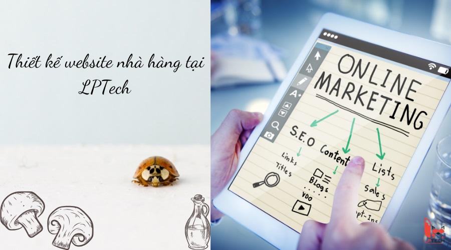 Thiết kế website nhà hàng tại LPtech