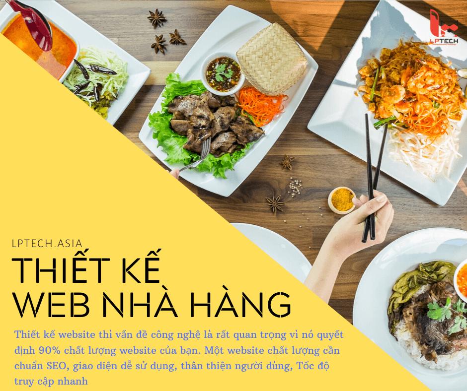 Thiết kế website nhà hàng khách