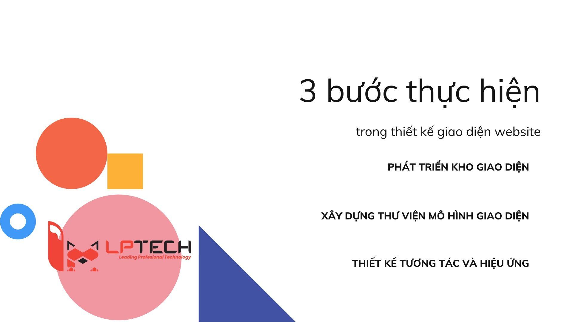 ba bước thực hiện trong thiết kế giao diện dành cho website