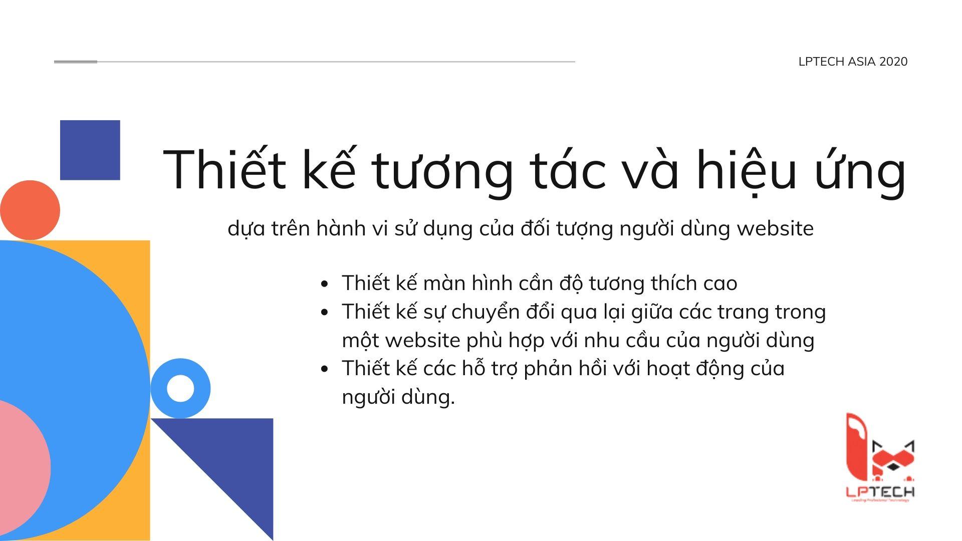 Thiết kế tương tác và hiệu ứng cho thiết kế giao diện website