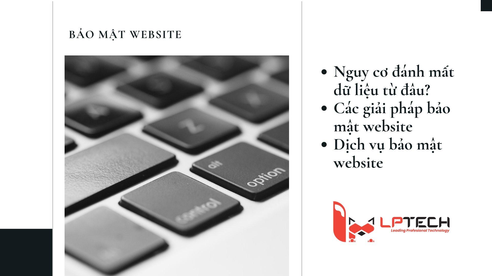 Dịch vụ bảo mật website trước nguy cơ đánh cắp dữ liệu trên website