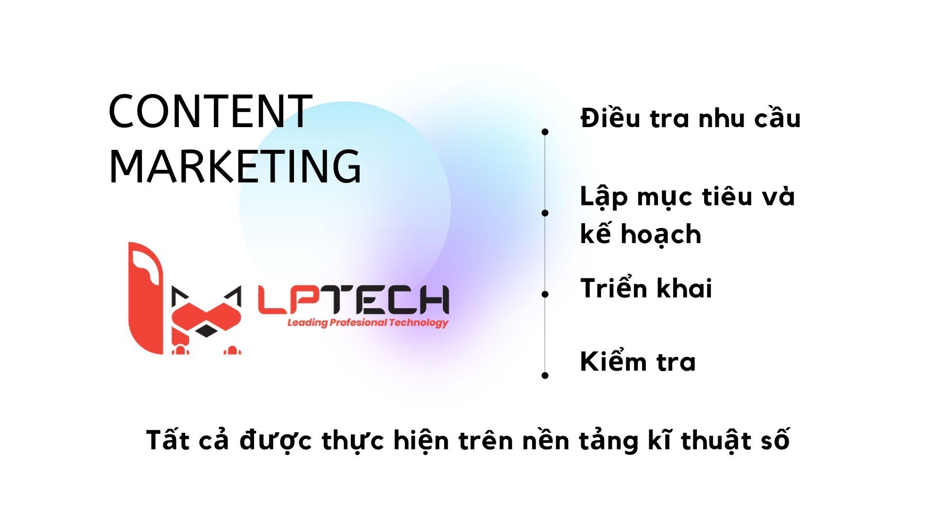 các công tác cần thực hiện trong content marketing