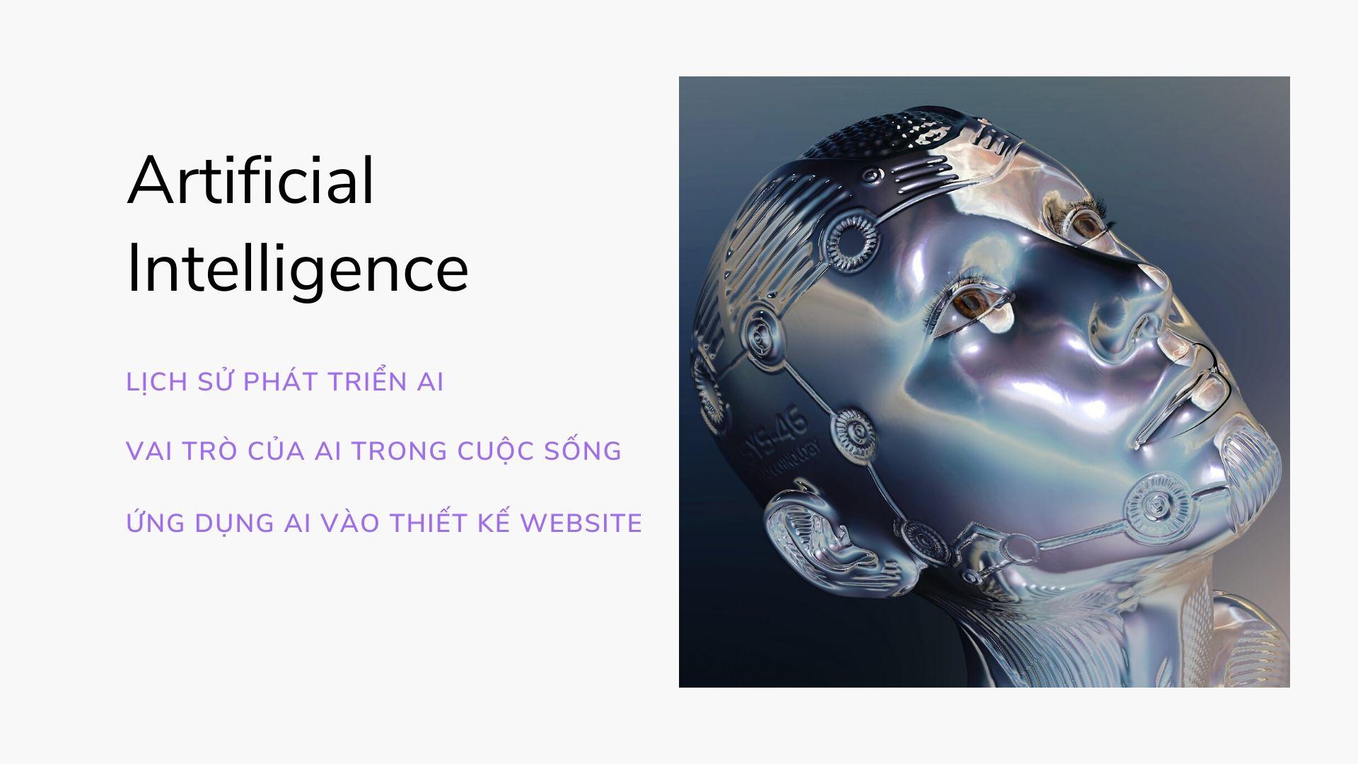 Trí tuệ nhân tạo ứng dụng vào thiết kế website chuyên nghiệp