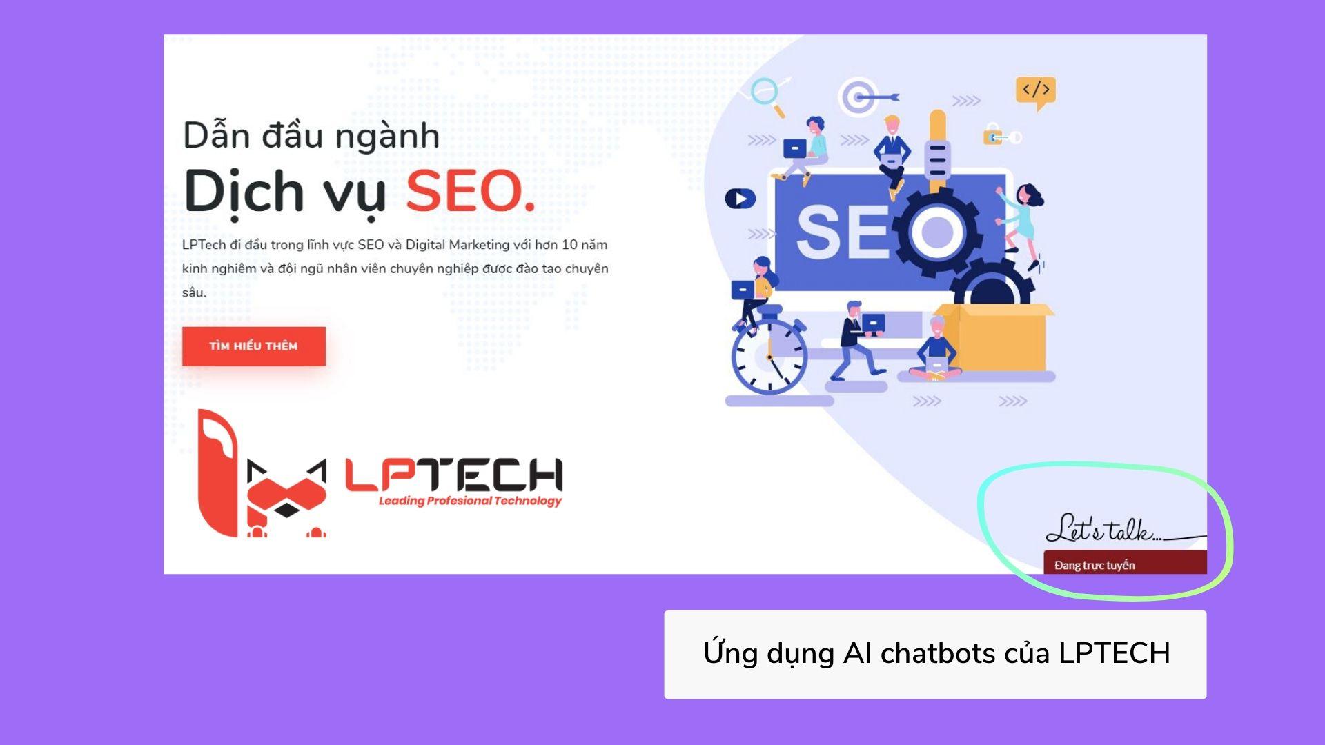 LPTech ứng dụng chatbots vào website