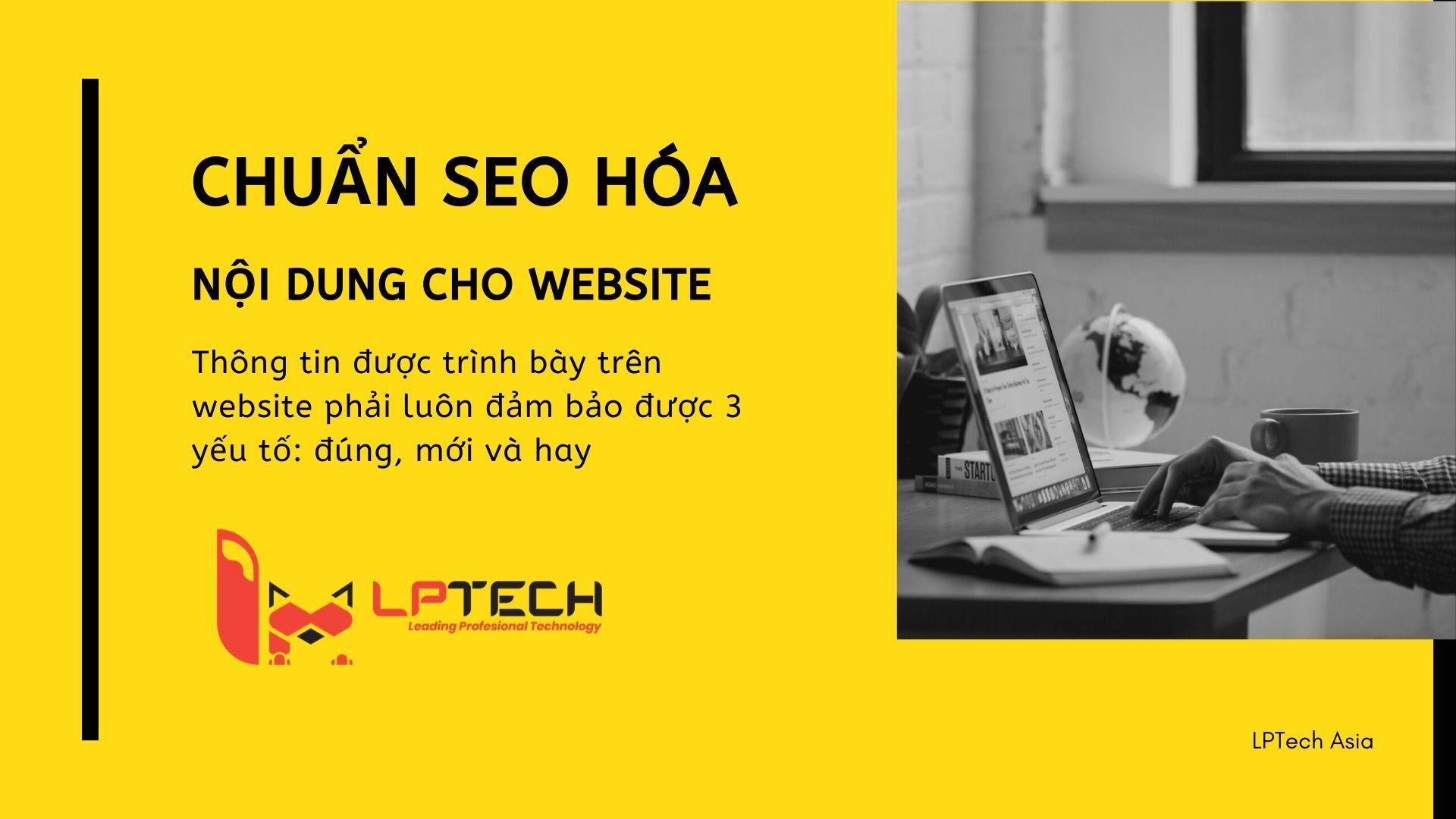 Chuẩn SEO hóa nội dung cho website