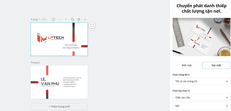 LPTech Asia với kinh nghiệm trong thiết kế website