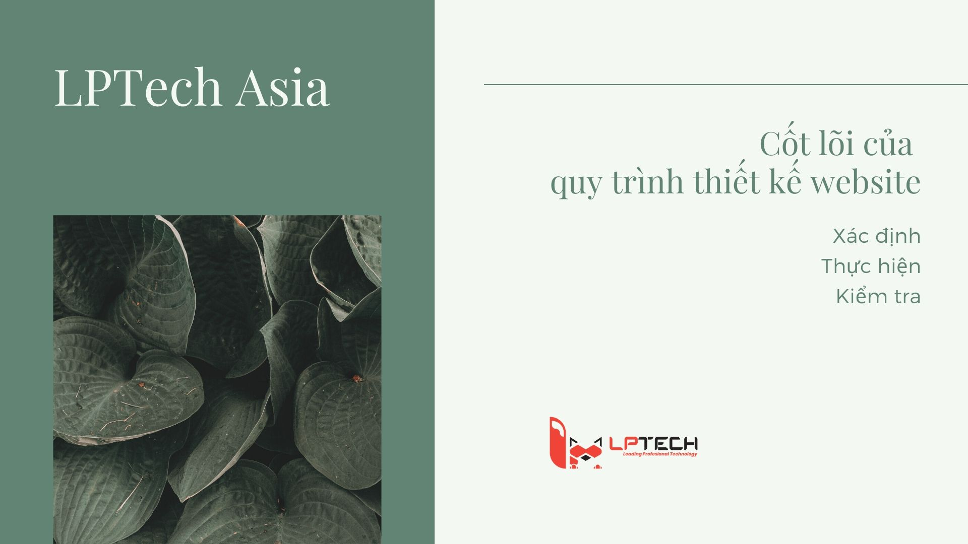 Hành động cốt lõi trong quy trình thiết kế website ở LPTech Asia