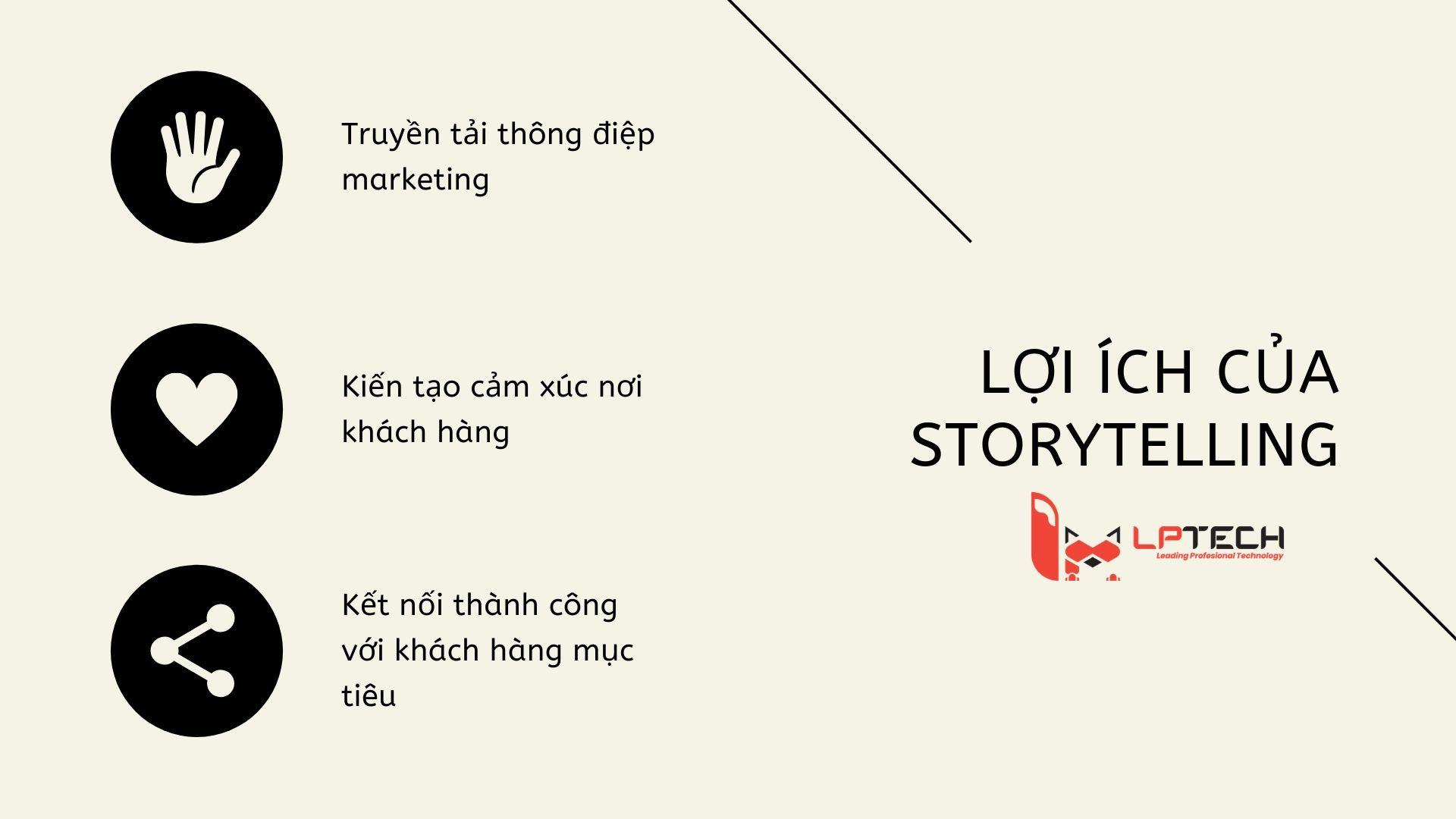 Lợi ích của storytelling đối với marketing