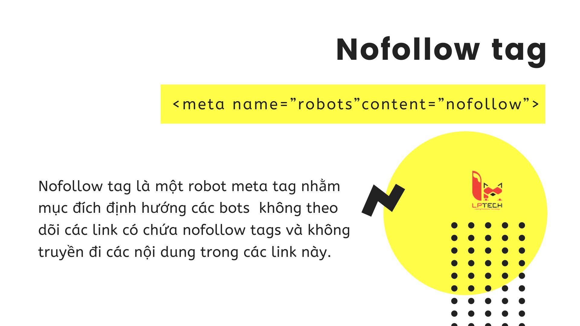 Cách sử dụng nofollow tag