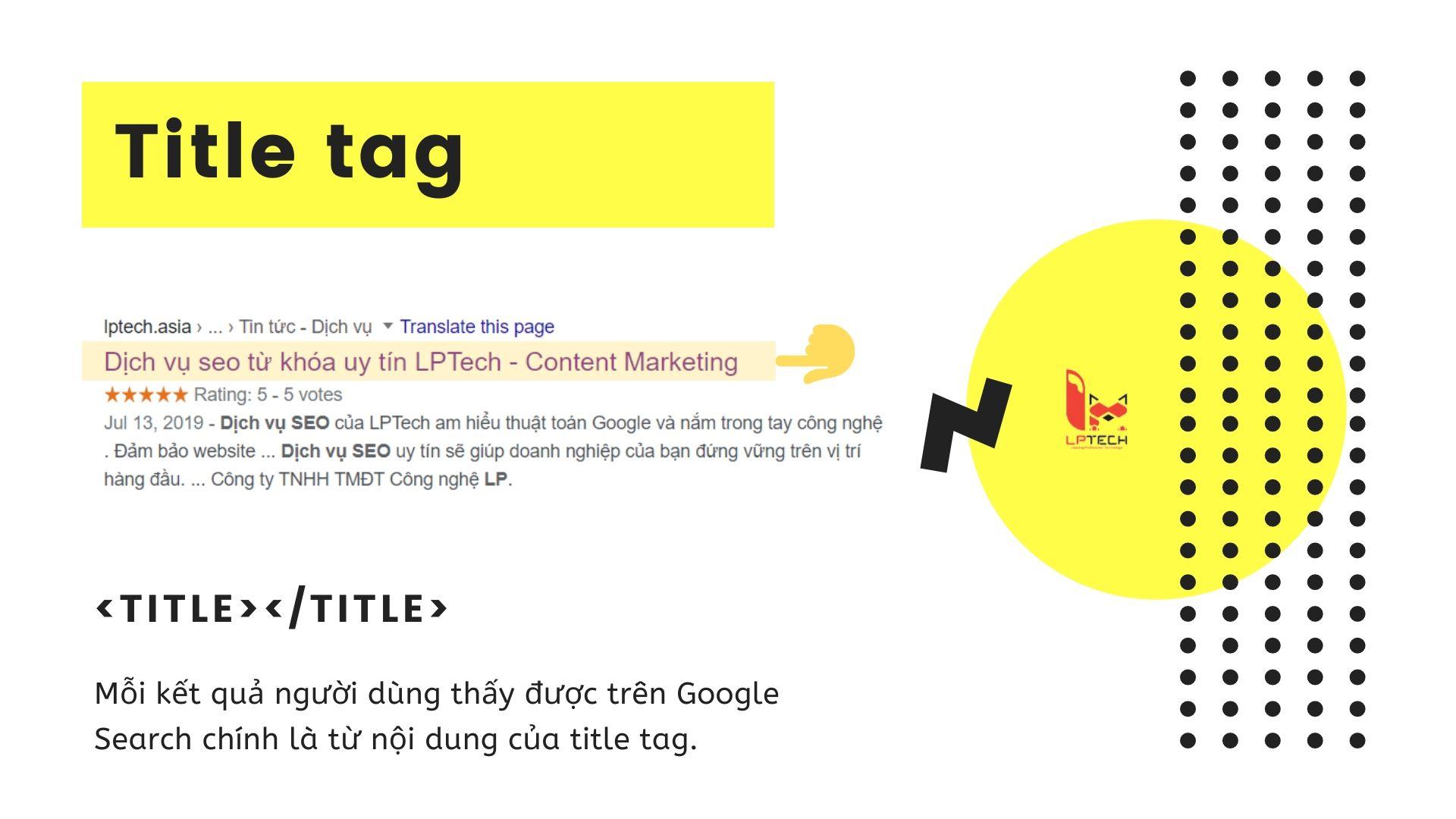 Cách sử dụng title tag