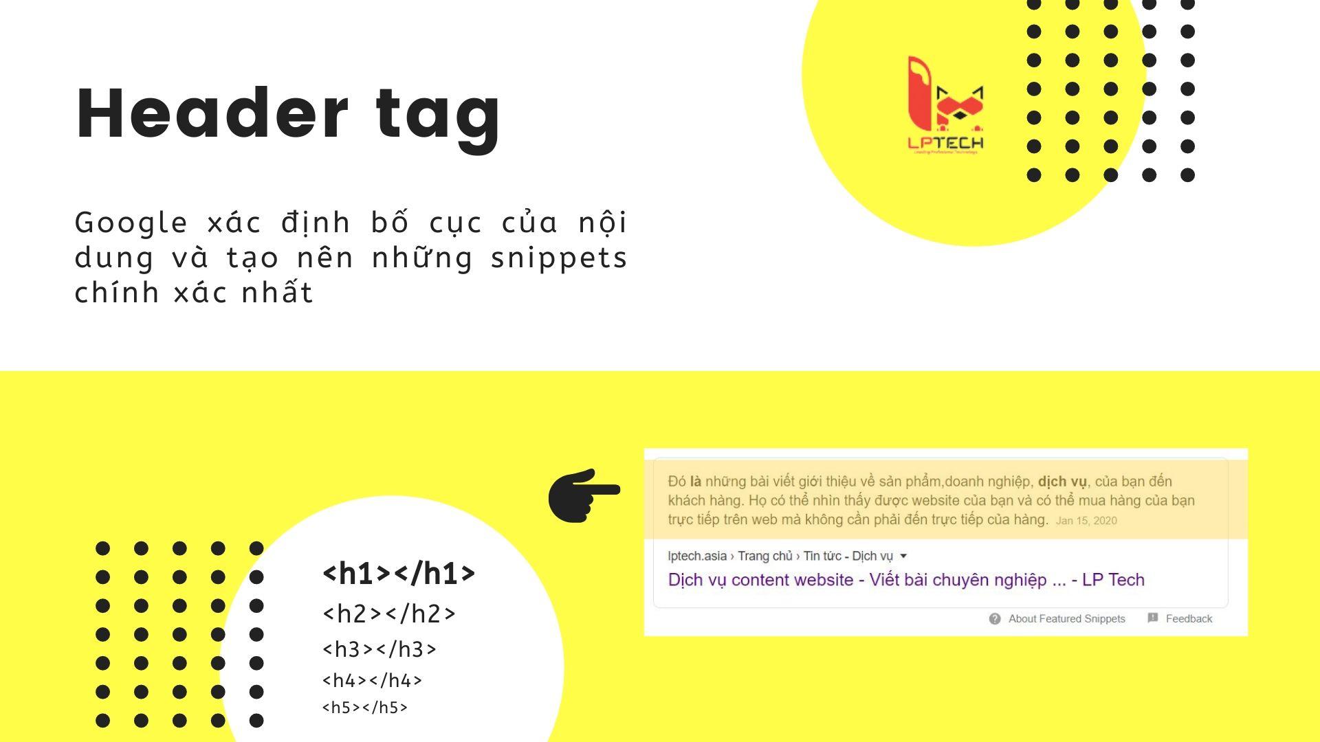 Cách sử dụng header tag