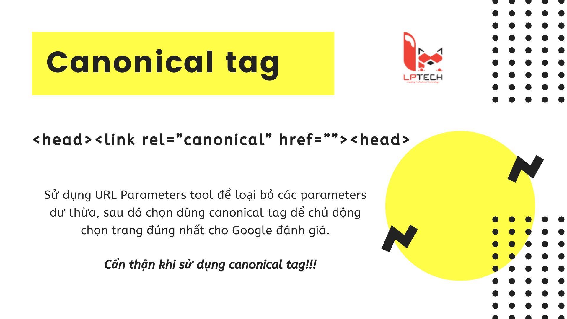 Cách sử dụng canonical tag