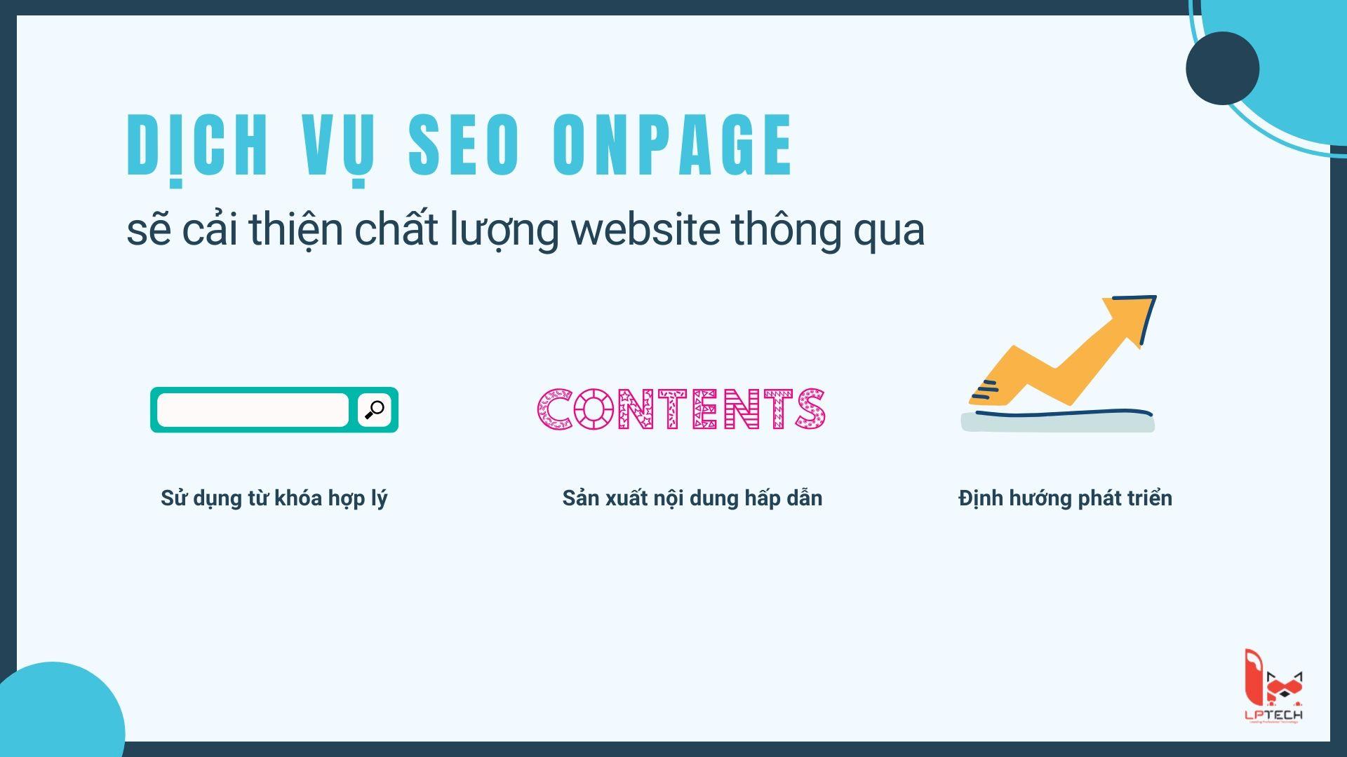Dịch vụ SEO Onpage cải thiện chất lượng website