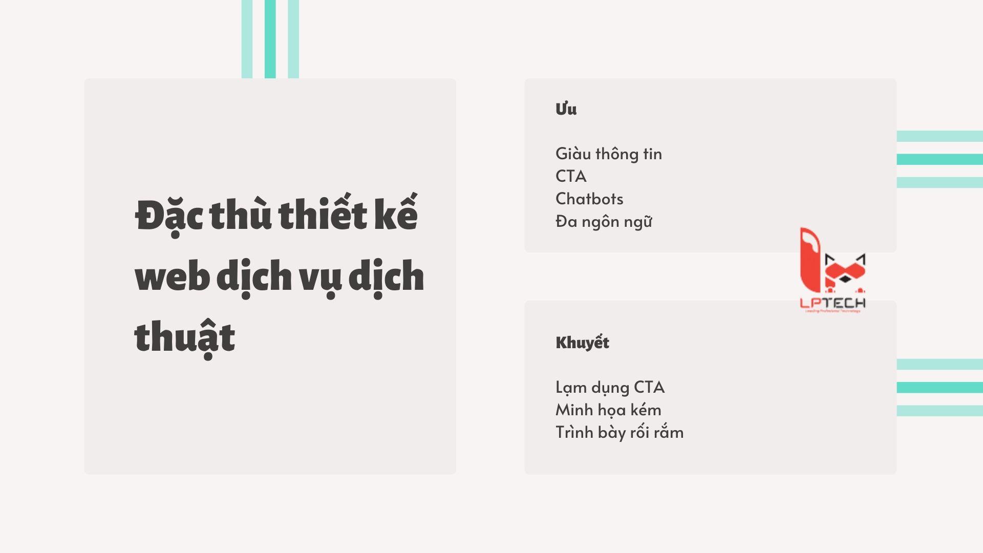 Đặc điểm của các thiết kế website trong dịch vụ dịch thuật hiện nay