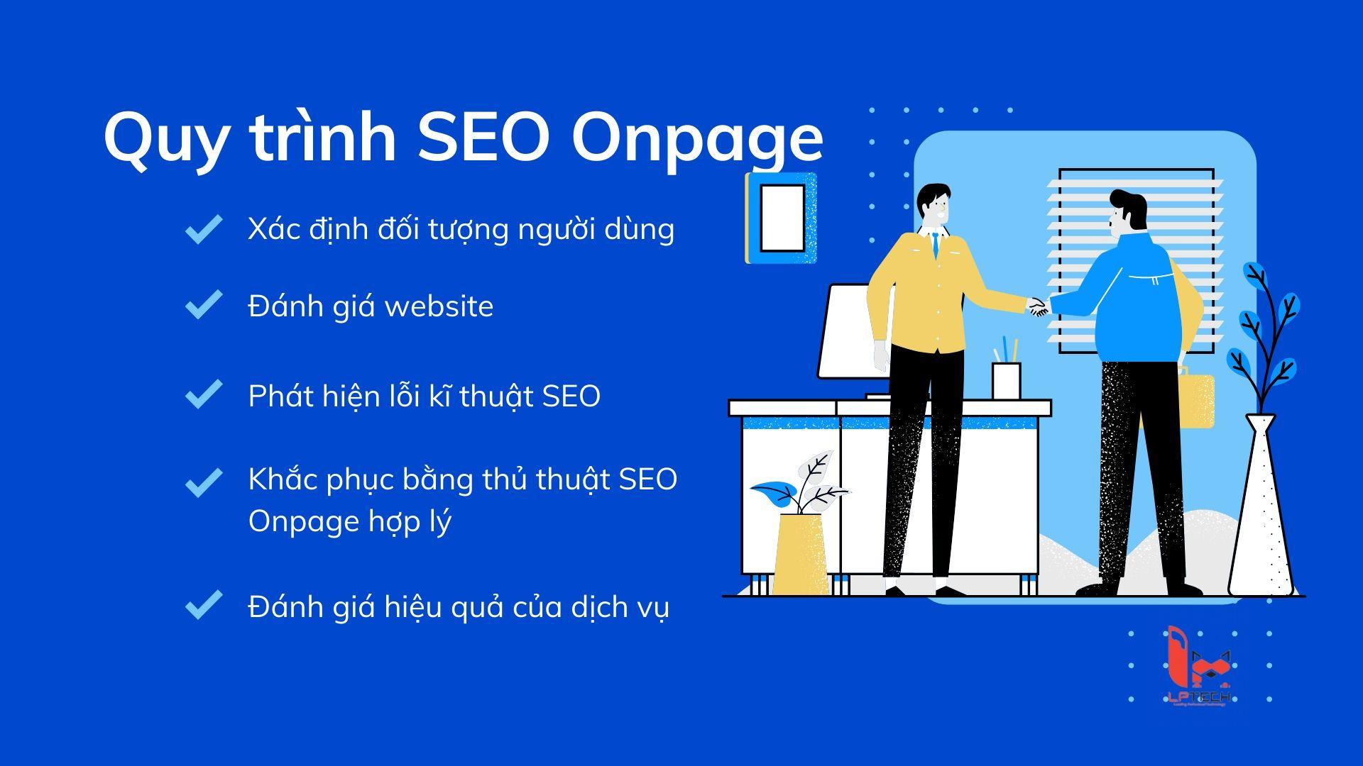Quy trình dịch SEO Onpage ở LP Tech