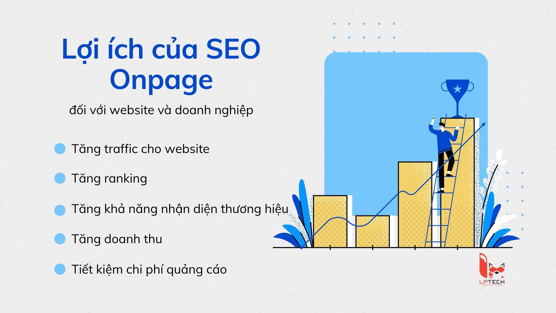 Lợi ích mà SEO Onpage mang lại cho website và doanh nghiệp