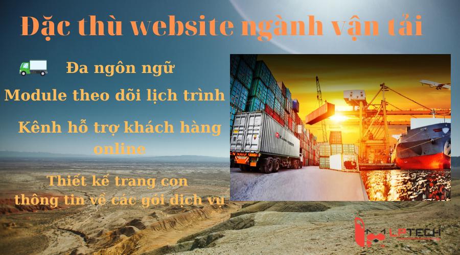 Đặc thù website ngành vận tải- Logistics