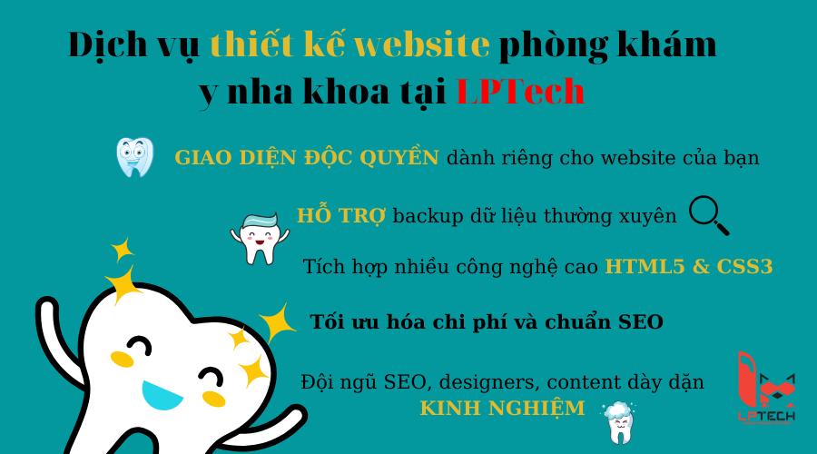 Dịch vụ thiết kế website y, nha khoa tại LPTech
