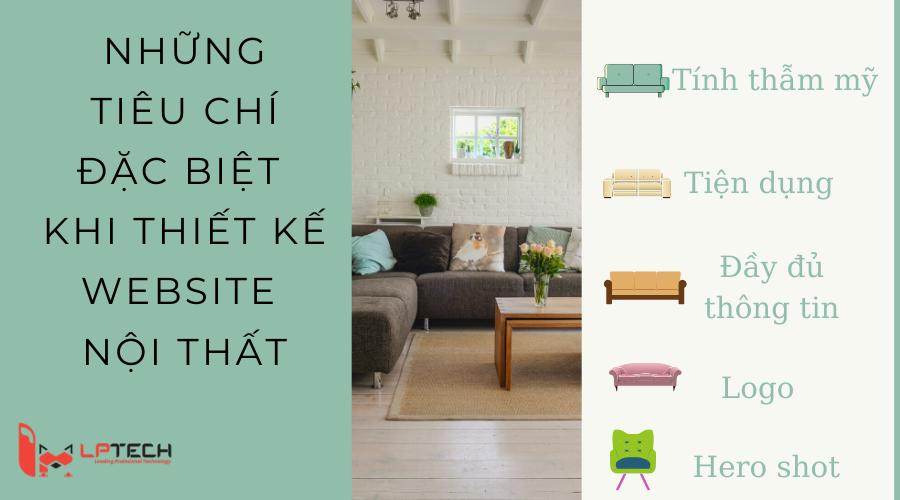 Những tiêu chí đặc biệt khi thiết kế website nội thất