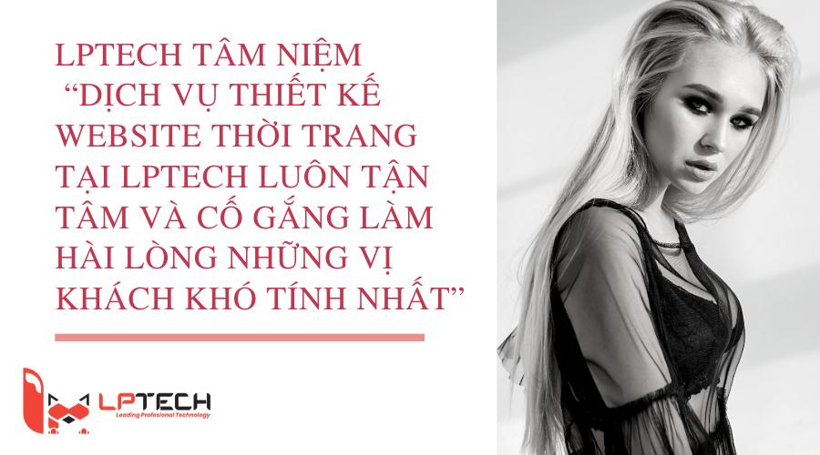 Dịch vụ thiết kế website thời trang onine sang trọng tại LPTech