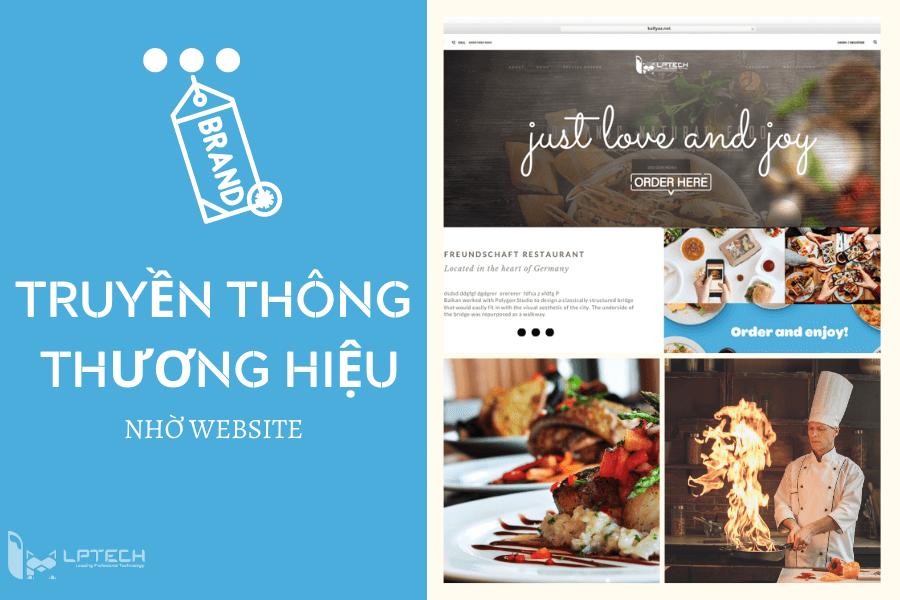 Truyền thông thương hiệu nhờ thiết kế web nhà hàng chuẩn SEO