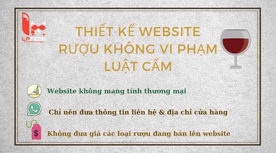 Thiết kế website rượu không vi phạm luật cấm