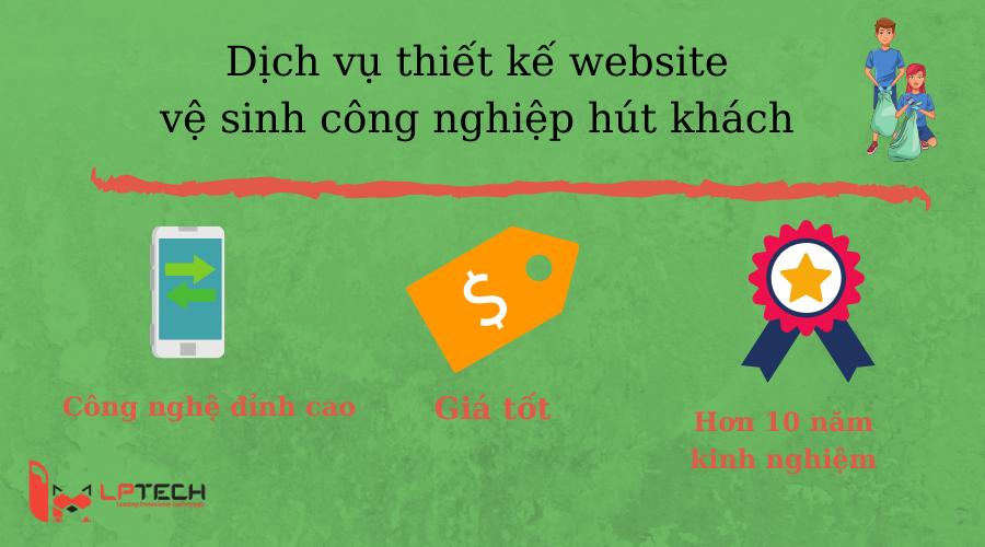 Dịch vụ thiết kế website vệ sinh công nghiệp