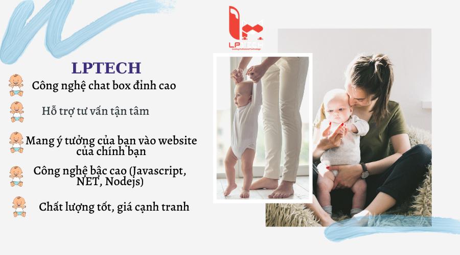 Thiết kế website mẹ và bé tại LPTech