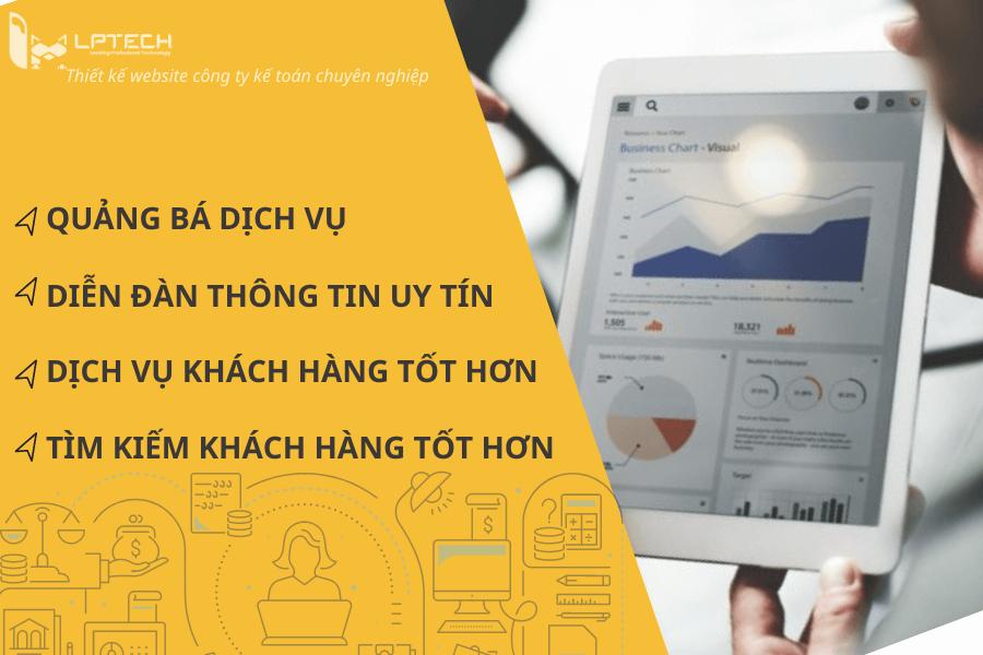 Lợi ích của thiết kế website công ty kế toán, kiểm toán