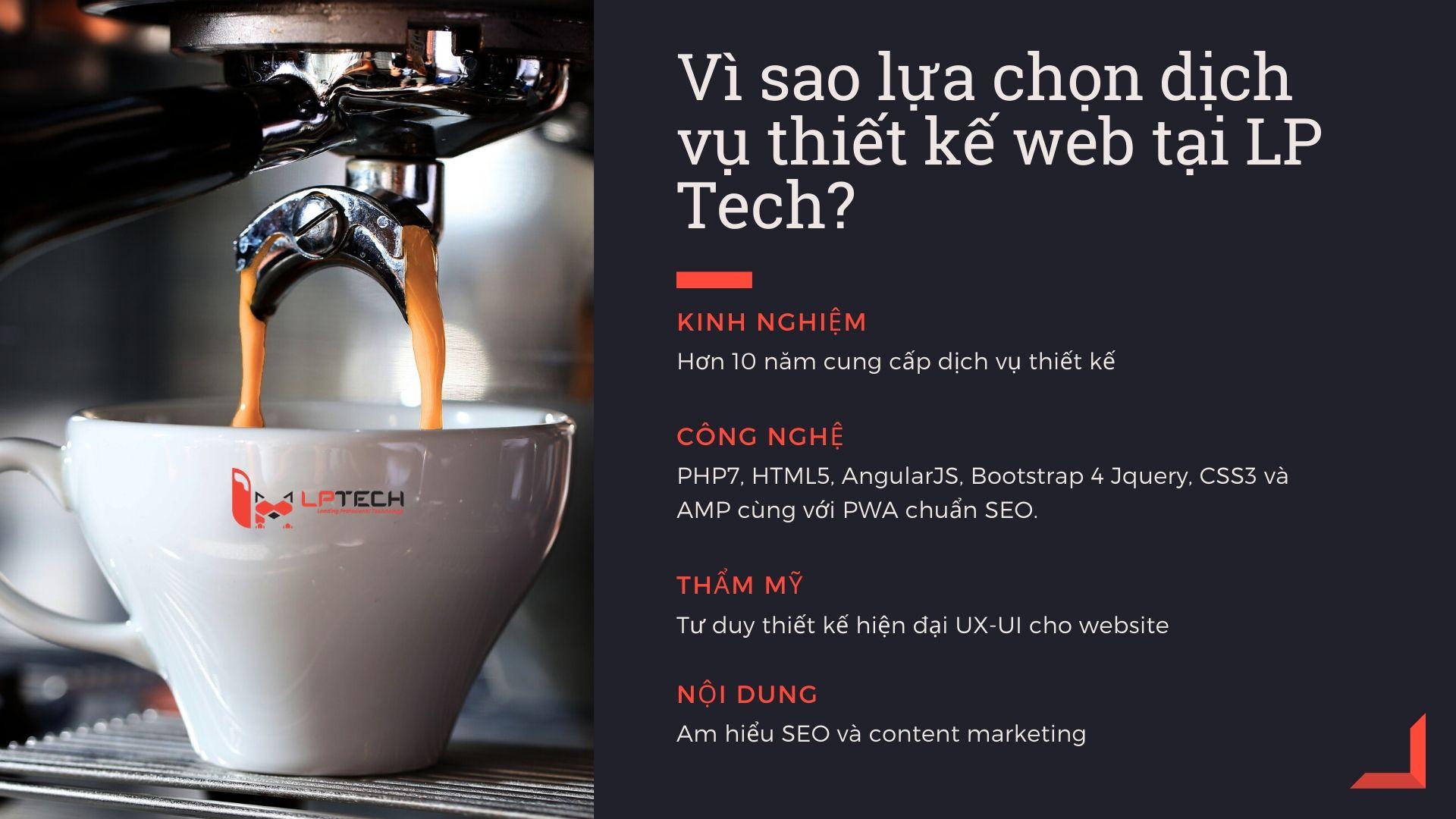 Vì sao lựa chọn dịch vụ thiết kế web tại LP Tech