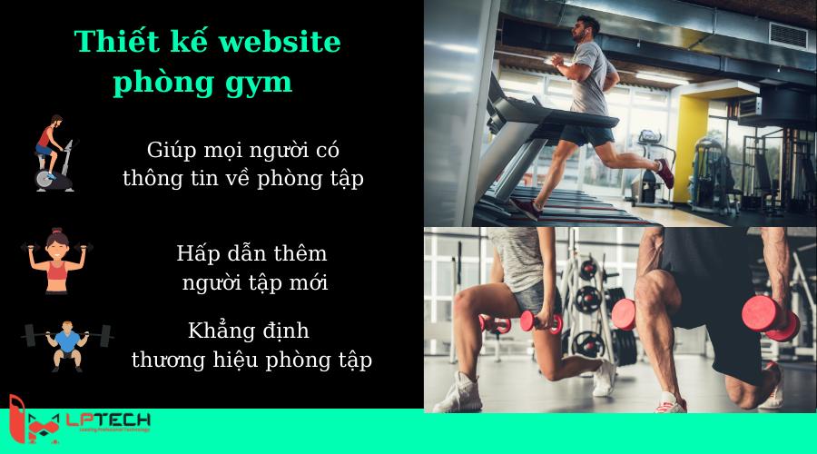 Các lý do nên thiết kế website phòng gyms