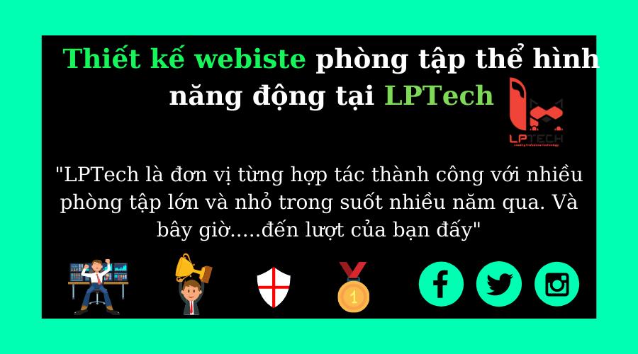 Dịch vụ thiết kế website phòng gyms tại LPTech