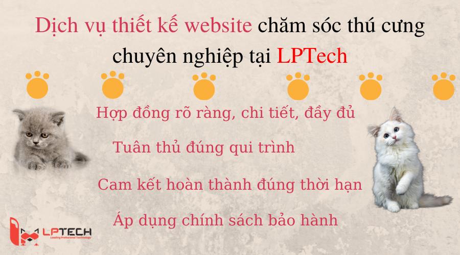 Dịch vụ thiết kế website chăm sóc thú cưng tại LPTech