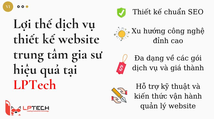 Lợi thế dịch vụ thiết kế website trung tâm gia sư tại LPTech
