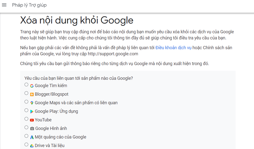 xóa nội dung sao chép khỏi google