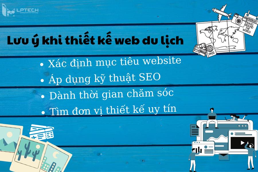 Lưu ý khi thiết kế web du lịch chuyên nghiệp