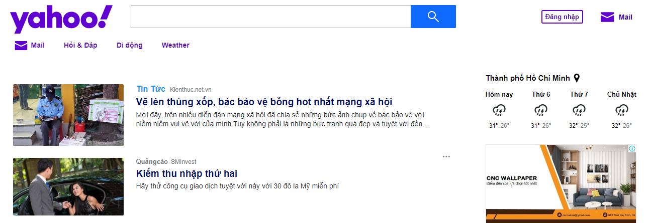 công cụ tìm kiếm Yahoo!search