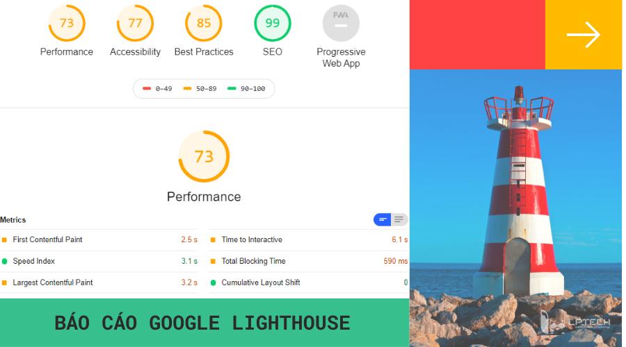 Báo cáo Google Lighthouse
