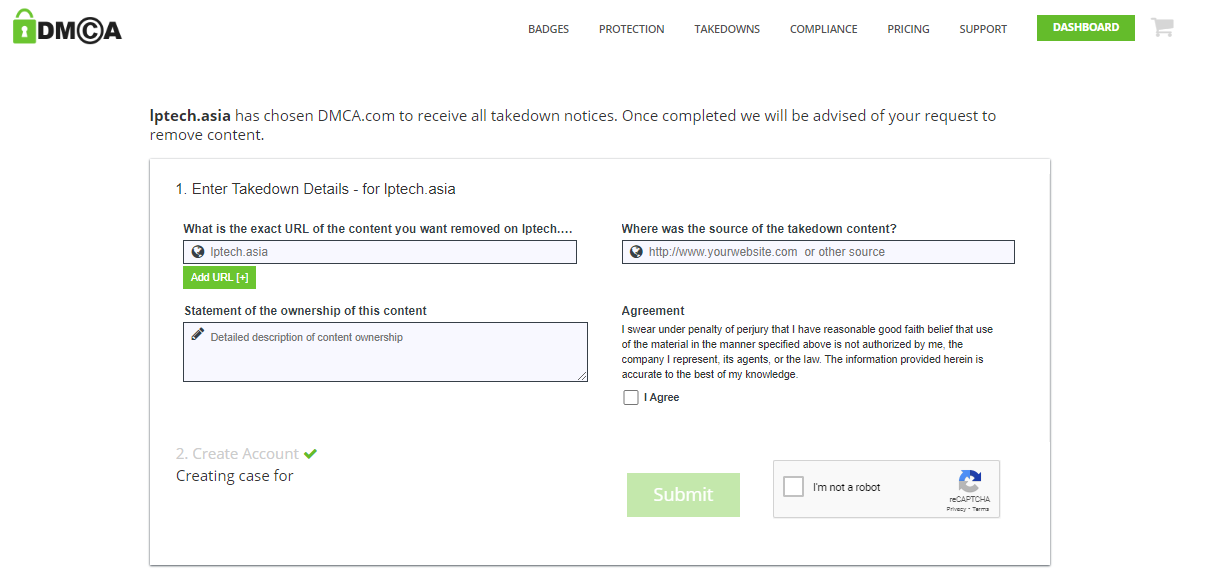 Report bản quyền trực tiếp với DMCA