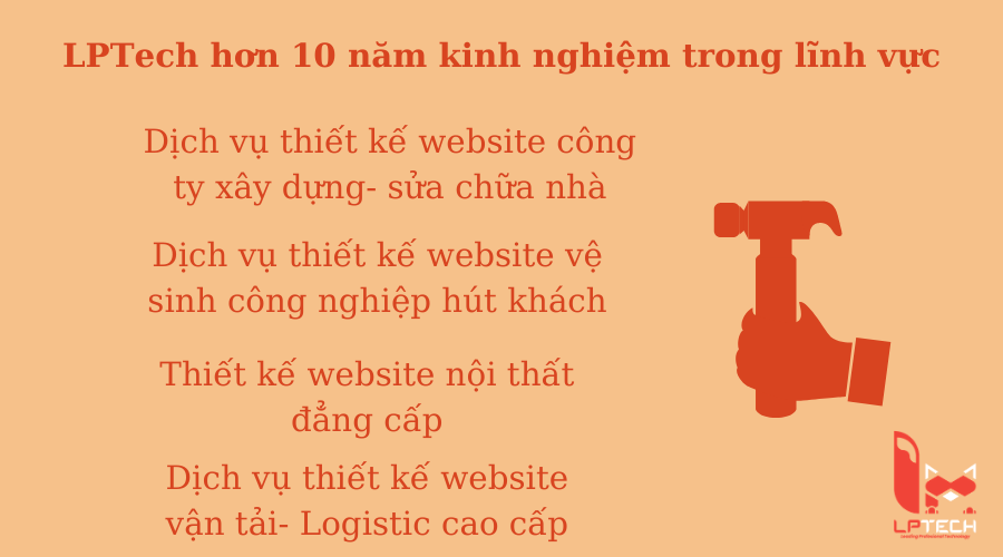 Kinh nghiệm thiết kế website tại LPTech