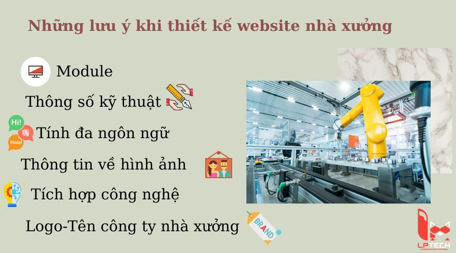 Những lưu ý khi thiết kế website nhà xưởng