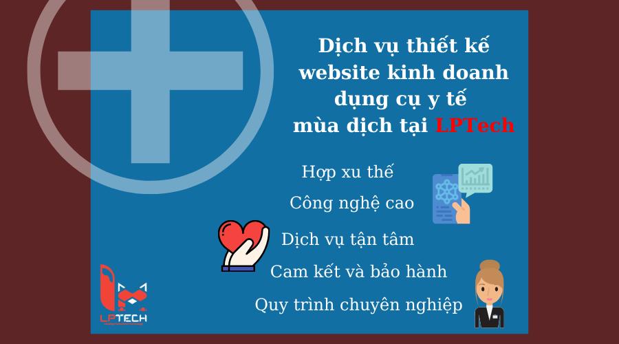 Thiết kế website dụng cụ y tế tại LPTech