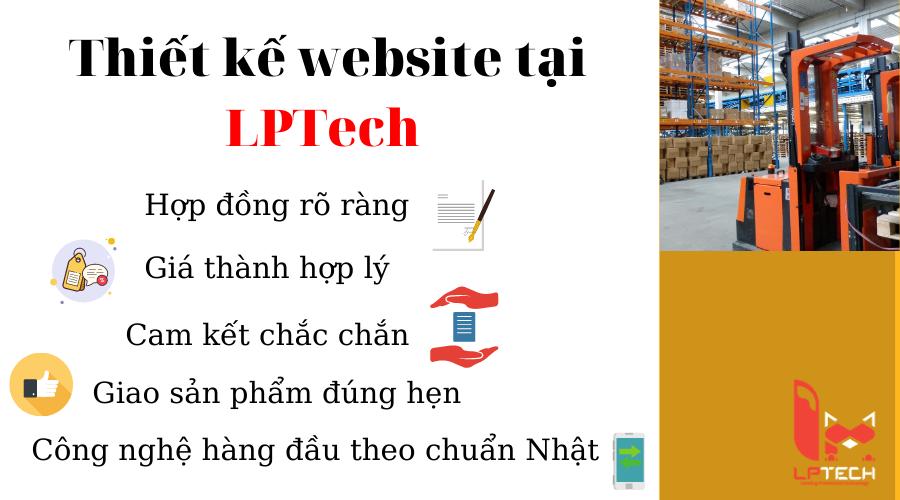 Thiết kế website nhà máy xưởng tại LPTech