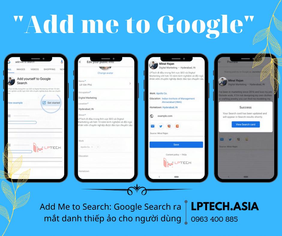 Add Me to Search: Google Search ra mắt danh thiếp ảo cho người dùng