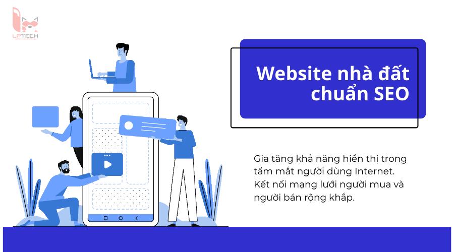 Kết nối người mua người bán bằng thiết kế web bất động sản